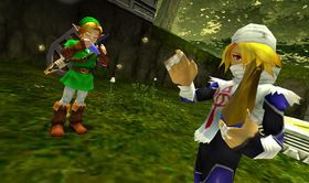 Skjermbilete frå The Legend of Zelda: Ocarina of Time.