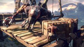 Kratos røsker litt i hjernebarken på denne... elefanten?