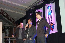 Glade gutter fra Dice mottar prisen for beste nordiske spill (foto: Marius Kjørmo).