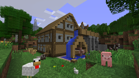 Minecraft (Xbox 360, Android og PC).