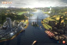 Konseptskisse fra det kommende SimCity.