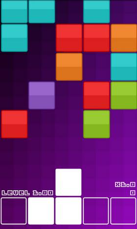 Omvendt nesten-Tetris.
