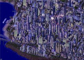 Nå feirer innbyggerne i SimCity 4, som dette bildet er fra.