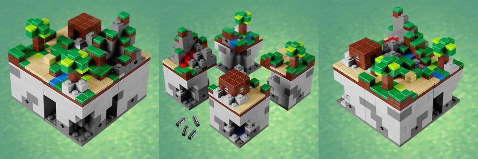 LEGO viser frem Minecraft-klosser