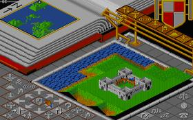 Slik så Populous ut på Amiga.