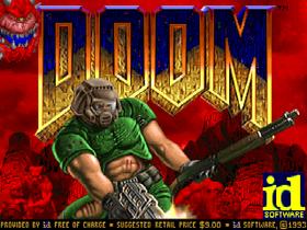 En kan si mye positivt om Doom. Men tittelskjermen er ikke stor kunst.