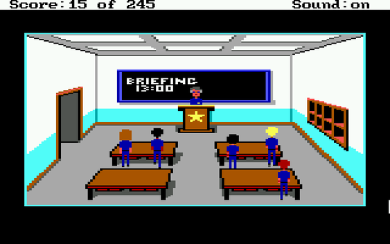 Jeg er egentlig imponert over hvor mye liv Sierra har lagt i spillets store piksler.