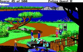 Police Quest II er litt mer historiedrevet enn originalen.