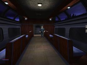 Spillet har stilige og varierte omgivelser. Dette er et tog.