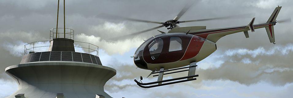 Helikoptersimulator like rundt hjørnet