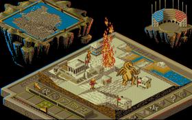 Bullfrog-klassikeren Populous II (bilde fra Amiga-utgaven).