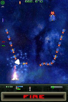 Warblade byr på en raskere og tøffere versjon av klassikeren Galaga.
