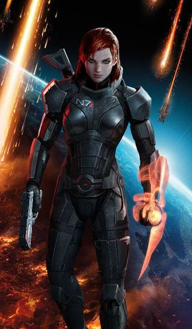 Commander Shepard i Mass Effect 3.