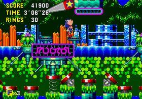 Fargerikt i Sonic CD.