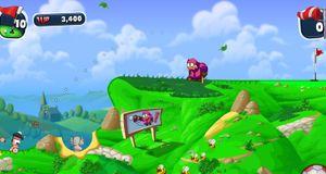 Worms inntar golfbanen
