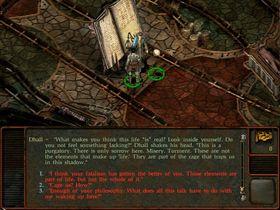 Er Planescape Torment en interaktiv bok?