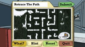 Snu på brikkene til labyrinten blir riktig.