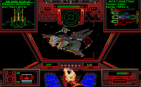 Noen av fiendeskipene var svært store (bilde fra Amiga-versjonen).