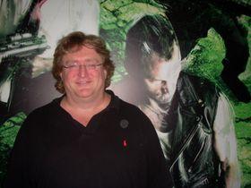 Vi har møtt Gabe Newell i Tyskland tidligere. (Foto: Mikael H. Groven/Gamer.no)