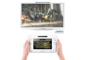Her er den, Wii U i aksjon på et TV.