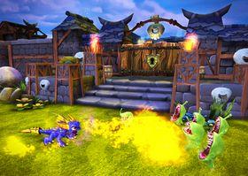 Spyro griller fiendene.