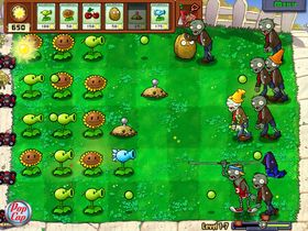 Plants vs. Zombies det der.