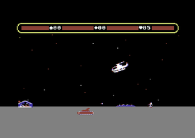 Choplifter på Commodore 64.