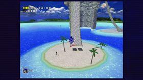 Sonic forbereder seg på å trosse tyngdekraften.