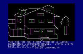 Mystery House på Apple II.