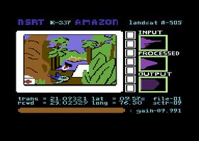 Introduksjonen til Amazon på Commodore 64.
