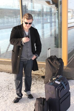 Mikael klar til avreise.
