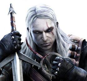 Geralt fra The Witcher, en velutstyrt mann.