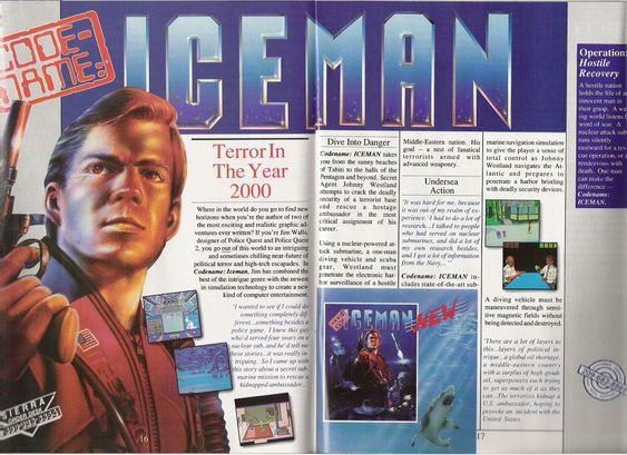 Slik reklamerte Sierra for Codename: Iceman.