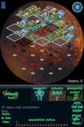 Bilde fra spillet på iPad.