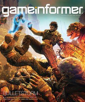 Bulletstorm på Game Informers omslag.