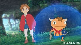 Folk og Fe i Ni No Kuni-by.