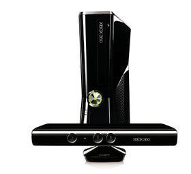 Kinect plassert foran den nye Xbox 360-modellen.