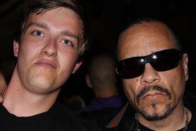 Lasse og Ice-T (Lasse til venstre, altså).