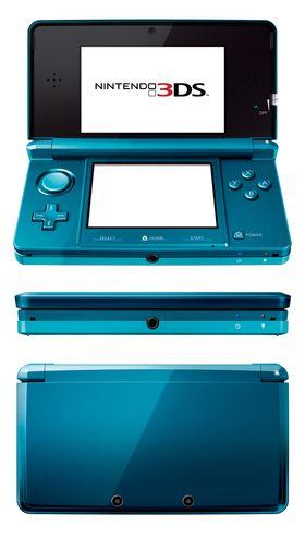 3DS kommer i rød og turkis variant.