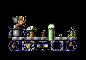 Pixelpupp og suspekt grønn ting i Stormlord.