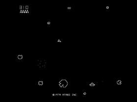 Asteroids brukte vectorgrafikk.