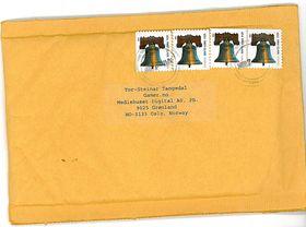 Et bilde av konvolutten