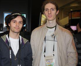Jo-Remi (t.v.) og Simon fra D-pad. (Foto: Mikael H. Groven/Gamer.no)