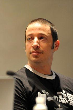 Ron Carmel fra 2D Boy, her fra fjorårets GDC.