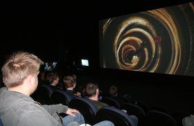 Publikum fikk se Kratos i sitt rette element. - Nei, ikke i limbo, men på kinolerretet. (Foto: Thomas Owren/Gamer.no)