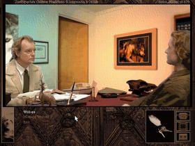 Gabriel Knight snakker med en ekspert på ulver. Men kjenner han også til varulver?