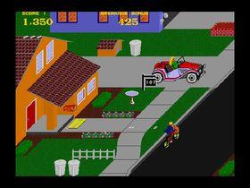 Paperboy er et av spillene som er fjernet.