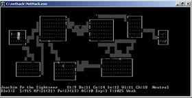 Roguelike-spillet Nethack (i ASCII-modus).