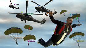 Fallskjermhopp i flerspillermodus.