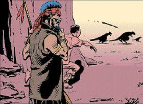 Tegneseriekunstner Dave Gibbons laget introen.